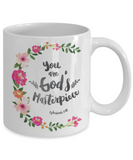 Scripture mugs for women , You are god's masterpiec - White Coffee Mug Tea Cup 11 oz Gift