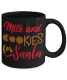 Rumbles the cloud and santa's greatest gift - Milk and Cookies for Santa - Funny Santa Gifts Mugs, Christmas Gifts for family Ceramic Cup Black, Funny Mugs Gift Ideas 11 Oz