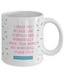 Religious coffee mugs , Your works are wonderful - White Coffee Mug Tea Cup 11 oz Gift