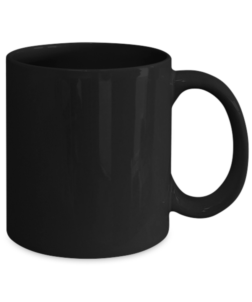 Female Coffee Mug - Black Porcelain Coffee Cup,Premium 11 oz Black coffee cup