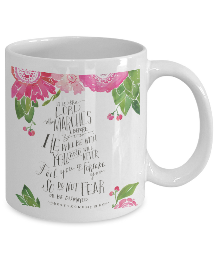 Religious coffee mugs , So do not fear - White Coffee Mug Tea Cup 11 oz Gift