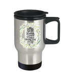 Religious coffee mugs , Be strong and very courageous - Stainless Steel Travel Mug 14 oz Gift