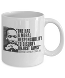 Martin luther king jr malcom x and the civil rights struggle, Fight to Disobey Unjust Laws - Funny White Porcelain Coffee Mug Cute Ceramic Cup 11 oz