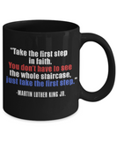 Martin luther king jr malcom x and the civil rights struggle, Quotes of Faith - Funny Black Porcelain Coffee Mug Cute Ceramic Cup 11 oz