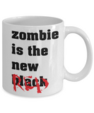 Plants vs zombies gift box mugs , Zombie is the new Black - White Coffee Mug Porcelain Tea Cup 11 oz - Great Gift