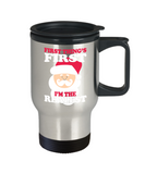 Santa Lovers Mugs , I'm the realest - Stainless Steel Travel Insulated Tumblers Mug 14 oz - Great Gift