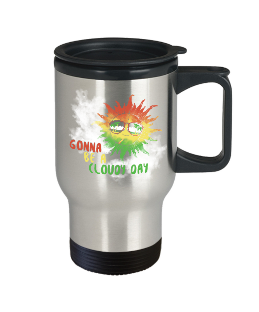 Gonna be a cloudy day - Stainless Steel Travel Insulated Tumblers Mug 14 oz - Great Gift