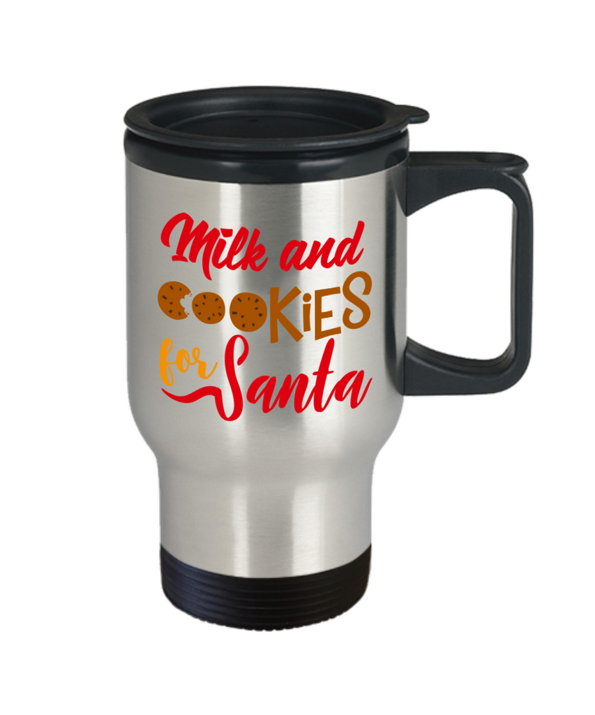 Rumbles the cloud and santa's greatest gift - Milk and Cookies for Santa - Funny Santa Gifts Mugs, Christmas Gifts for family Travel Mugs, Funny Mugs Gift Ideas 14 Oz