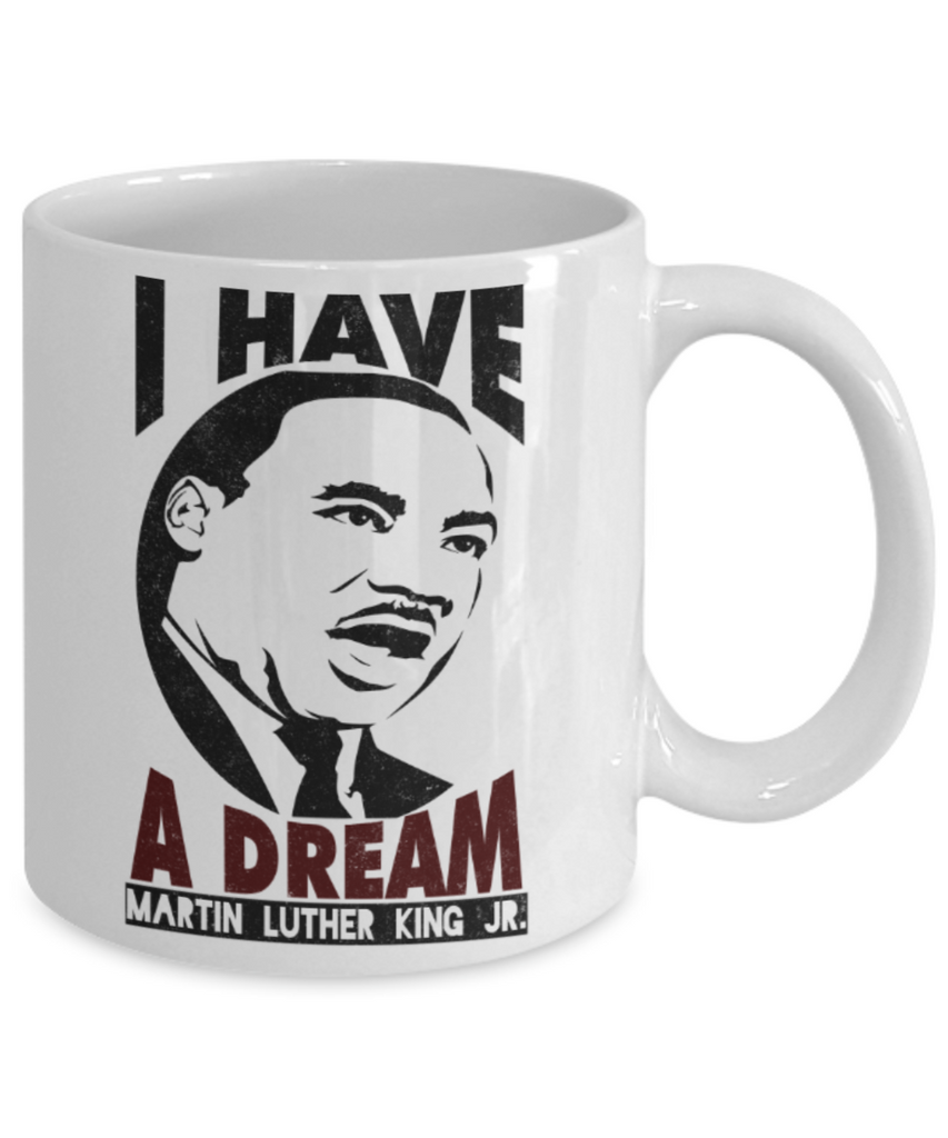Martin luther king jr malcom x and the civil rights struggle, Dream Struggle Freedom - White Porcelain Coffee Mug Cute Ceramic Cup 11 oz
