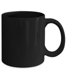 Wine Glass Black Mugs - Funny Christmas Gifts - Porcelain Black coffee mugs 11 oz