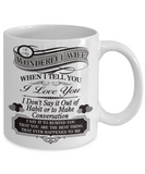 Wonderful wife I love you - Funny White Porcelain Coffee Mug Cute Ceramic Cup 11 oz