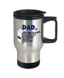 Father son gifts to do together - Dad Thanks for always coming back when you went to get milk - Travel Mug, Premium 14 oz Travel Coffee cup