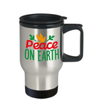 Knightmare before christmas mug - Peace on Earth - Funny Christmas Gifts Mugs, Christmas Gifts for family Travel Mugs, Funny Mugs Gift Ideas 14 Oz