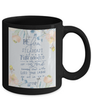 Bible verse mugs for women , Be firm steadfast to work - Black Coffee Mug Tea Cup 11 oz Gift