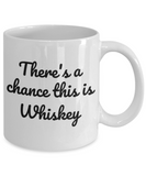 Shh theres wine in here, There's a chance this is whiskey - White Porcelain Coffee 11 oz