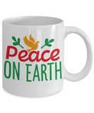 Knightmare before christmas mug - Peace on Earth - Funny Christmas Gift Mugs, Christmas Gifts for family Ceramic Cup White, Funny Mugs Gift Ideas 11 Oz