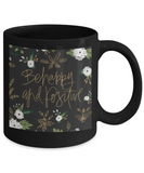 Scripture mugs for women , Be happy and positive - Black Coffee Mug Tea Cup 11 oz Gift