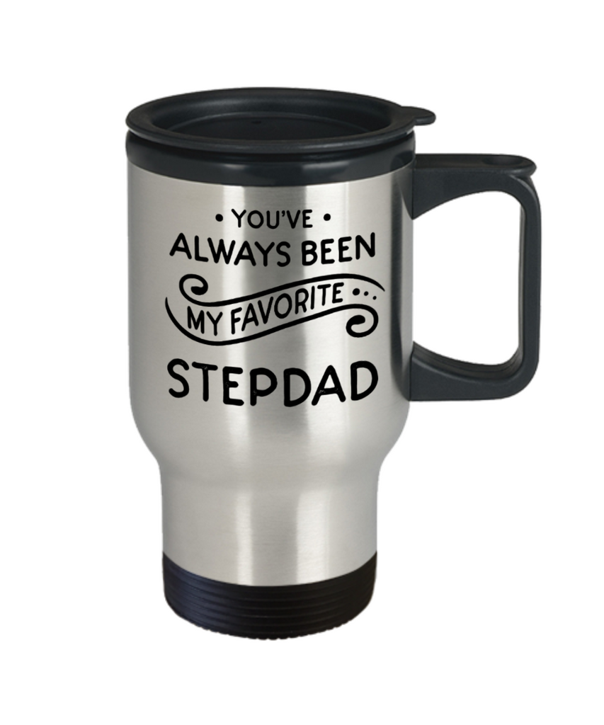 Stepdad gift mugs, You've always been my favorite Stepdad - Funny Travel Mug, Premium 14 oz Travel Coffee cup
