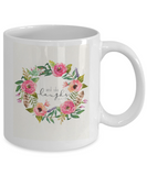 Bible gifts quotes mugs , And she laughs - White Coffee Mug Porcelain Tea Cup 11 oz - Great Gift