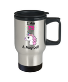 Unicorn Birthday gift 75th Birthday Gift for Women - I Am 75 & Magical Unicorn Mug - Premium 14 oz Travel Coffee Mug for Grandma, Mom, Sister, Best Friend, Women, Her - Born In 1945