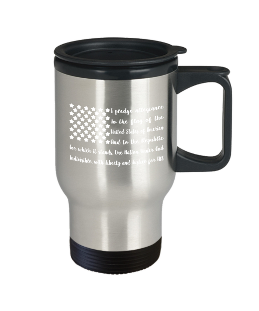 Fish Lovers Mugs , Flag of United States - Stainless Steel Travel Insulated Tumblers Mug 14 oz - Great Gift