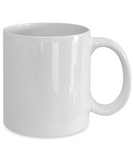 Graceful And Blessed Coffee Mug - White Porcelain Coffee Cup,Premium 11 oz White coffee