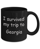 Patriotic coffee mugs , I survived my trip to Georgia - Stainless Steel Travel Mug 14 oz Gift