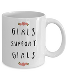 Proverbs Bible quotes , Girls support girls - White Coffee Mug Tea Cup 11 oz Gift