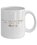 Get well mugs for women , You're one decision away from a totally different life - White Coffee Mug Tea Cup 11 oz Gift