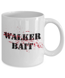 Plants vs zombies gift box mugs , Walker Bait - White Coffee Mug Porcelain Tea Cup 11 oz - Great Gift