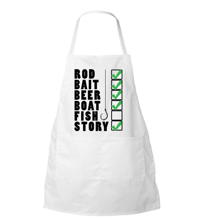 Fishing Checklist Apron - Zapbest2