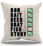 Fish Checklist Pillow Case - Zapbest2