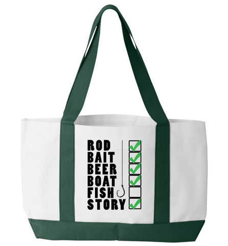 Fishing Checklist Tote Bag - Zapbest2