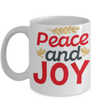 Knightmare before christmas mug - Peace and Joy - Funny Christmas Gifts Mugs, Christmas Gifts for family Ceramic Cup Black, Funny Mugs Gift Ideas 11 Oz