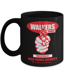 Plants vs zombies gift box mugs , Rick Grimes Security - Black Coffee Mug Porcelain Tea Cup 11 oz - Great Gift