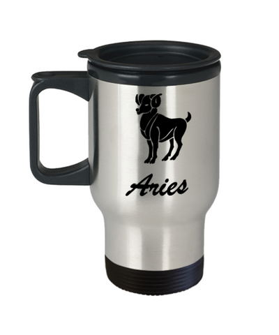 Aries - Aries Travel Mug - Aries Zodiac Mug - Zodiac - Star Sign - Mug - Star Sign Mug - Birthday Gift - Astrology Mug - Birthday Gift Mug, - Travel Mug Travel Coffee Mugs Tea Cups 14 OZ Gift Ideas