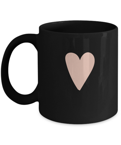 Floral Love Black Mugs - Funny Christmas Gifts - Porcelain Black coffee mugs 11 oz