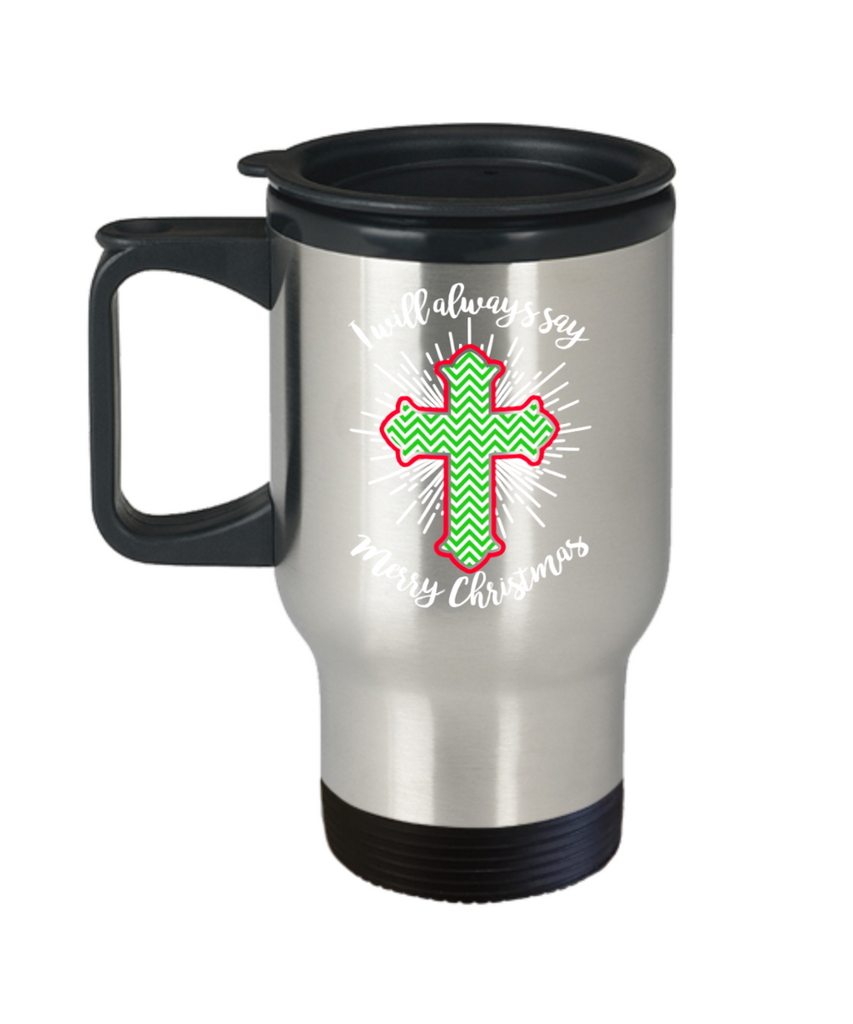 Christmas Lovers Mugs , Merry christmas - Stainless Steel Travel Insulated Tumblers Mug 14 oz - Great Gift