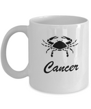 Cancer - Cancer Coffee Mug - Cancer Zodiac Mug - Zodiac - Star Sign - White coffee mugs 11 oz