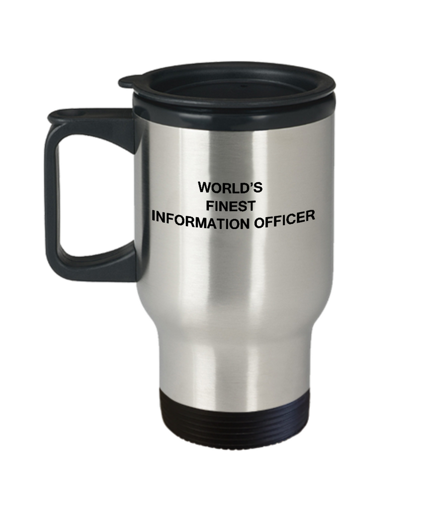 World's Finest Information officer - 14 oz Travel mugs