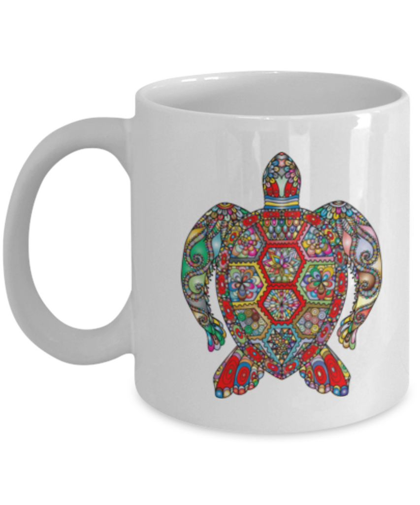 Funny Coffee Mug - Sea Turtle Lovers Mugs - Funny Farm Pet Animal Lover Saying Home Office Coffee Mug Tea Cup White 11 OZ
