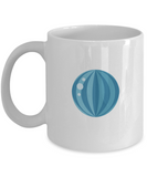 Beach blue ball coffee mugs - Funny Christmas Gifts - white Coffee Mug  Birthday Gag Gifts 11 oz