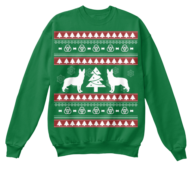 Christmas German Shepherd Ugly Sweater - Zapbest2  - 6