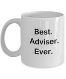 Best Adviser White Mugs - Funny Valentine Coffee Mugs - Funny White coffee mugs 11 oz