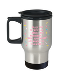 Psalm 139:14 Bible quotes , I praise you - Stainless Steel Travel Mug 14 oz Gift