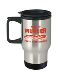 Food Lovers mugs , Meat is Murder - Stainless Steel Travel Insulated Tumblers Mug 14 oz - Great Gift