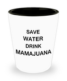 4 0z shot glasses - Save Water, Drink Mamajuana - Shot Glass Premium Gifts Ideas