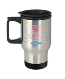 Religious coffee mugs , Your works are wonderful - Stainless Steel Travel Mug 14 oz Gift