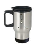 Cancer Constellation Travel Mug Unique - Stars Appear in the White Sky-14 oz Travel mugs
