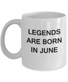 Legends are born in June Month Zodiac - Star Sign - Mug - Star  White coffee mugs 11 oz